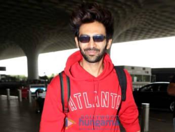 Photos Kareena Kapoor Khan, Taimur Ali Khan and Kartik Aaryan snapped at the airport