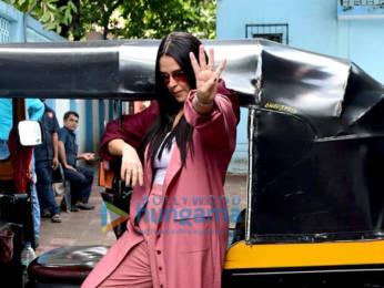 Photos: Rohit Shetty and Neha Dhupia snapped on sets of the show No Filter Neha – Season 4