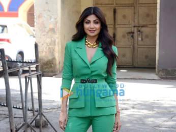 Photos: Shilpa Shetty snapped at Filmistan studio