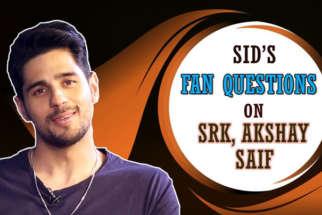 Sidharth Malhotra's QUIRKY Fan Questions on Shah Rukh Akshay Tara Alia Saif Varun Marjaavaan
