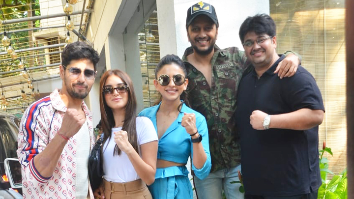 Tara Sutaria, Sidharth Malhotra, Riteish Deshmukh & others at screening of film Marjaavaan