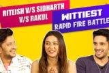 Team Marjaavaan's INSANE Rapid Fire – Riteish Deshmukh Sidharth Malhotra Rakul Preet