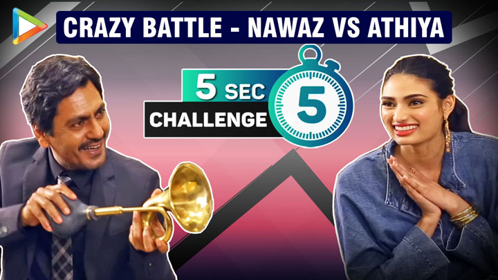Which 3 ABUSIVE Words Nawazuddin SAYS the most Athiya ENTERTAINING 5 Second Challenge
