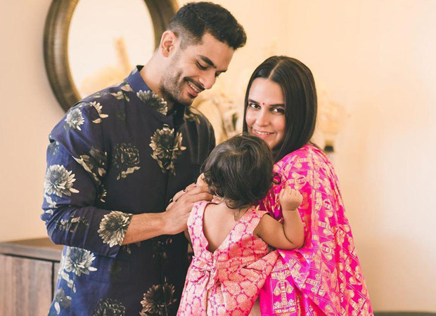 Neha Dhupia and Angad Bedi pen adorable notes for daughter Mehr on her first birthday