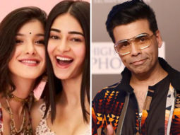 Karan Johar strikes a pose with his favourite 'millenials' Ananya Panday and Shanaya Kapoor