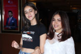 Ananya Panday & Bhumi Pednekar spotted promoting Film Pati Patni Aur Woh at Juhu PVR