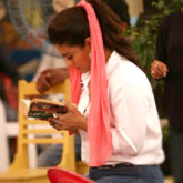 Flashback Friday Kajol Devgn reading a book on the sets is every book lover ever!