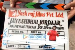 on the sets of the movie Jayeshbhai Jordaar