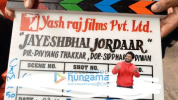 on the sets of the movie Jayeshbhai Jordaar