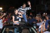 Kartik Aaryan, Ananya Panday & Bhumi P visit Gaiety Galaxy for Public Reaction Pati Patni Aur Woh