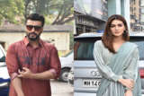 Kriti Sanon & Arjun Kapoor spotted promoting their Film Panipat