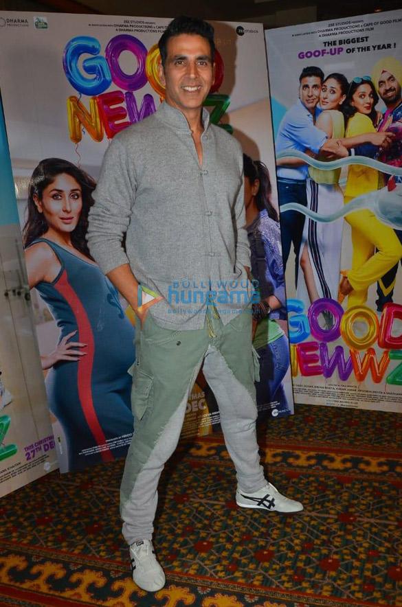 Photos Akshay Kumar, Kareena Kapoor Khan, Kiara Advani and Diljit Dosanjh snapped promoting their film Good Newwz (1)