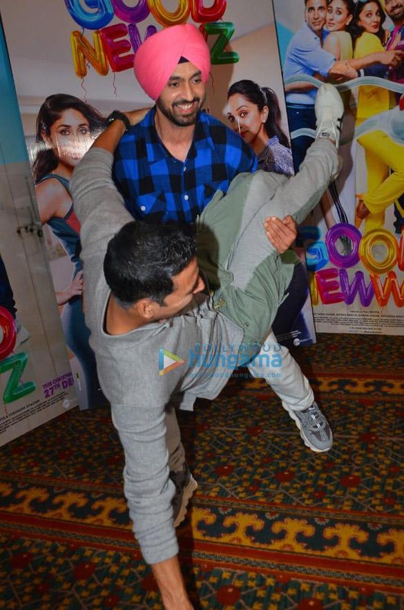 Photos Akshay Kumar, Kareena Kapoor Khan, Kiara Advani and Diljit Dosanjh snapped promoting their film Good Newwz (11)