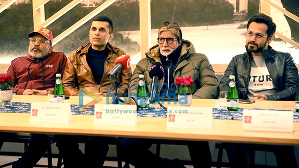 Photos Amitabh Bachchan and team Chehre snapped at a press conference in Slovakia (2)