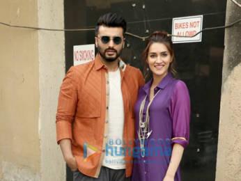 Photos: Arjun Kapoor and Kriti Sanon snapped promoting their film Panipat