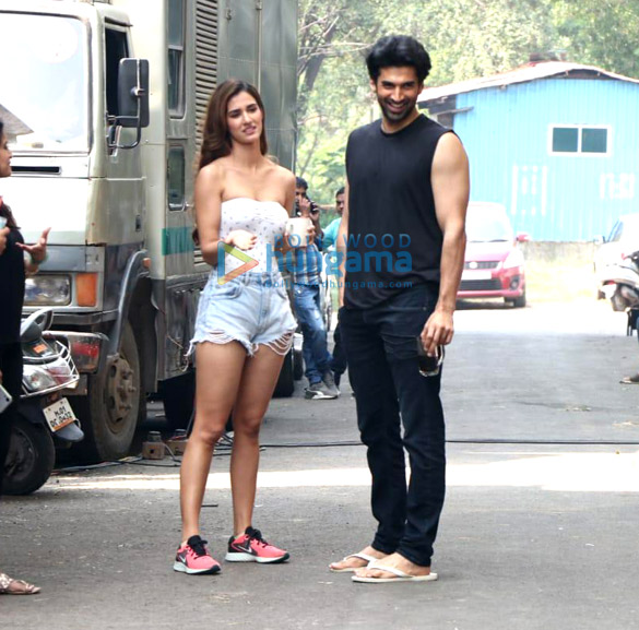 Photos: Disha Patani and Aditya Roy Kapur snapped on the sets of Malang at Filmcity