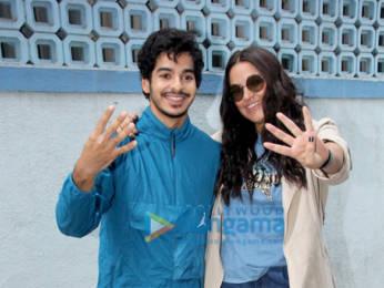 Photos: Ishaan Khatter and Neha Dhupia snapped on sets of the show #NoFilterNeha Season 4