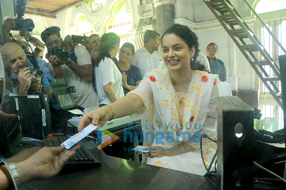 Photos: Kangana Ranaut spotted at CSMT Railway Station Ticket counter