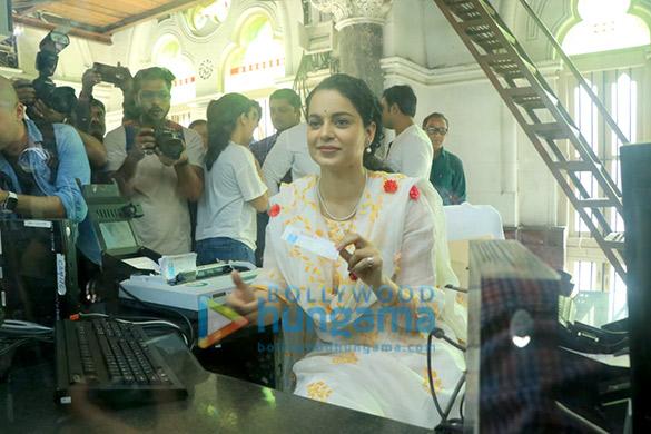 Photos: Kangana Ranaut spotted at CSMT Railway Station Ticket counter