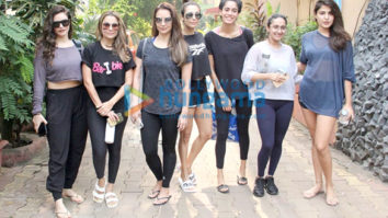 Photos: Malaika Arora, Seema Khan, Rhea Chakraborty and others spotted at Diva Yoga