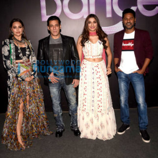 Photos: Salman Khan, Sonakshi Sinha, Saiee Manjrekar and Prabhu Dheva snapped promoting their film Dabangg 3 on the sets of Dance Plus