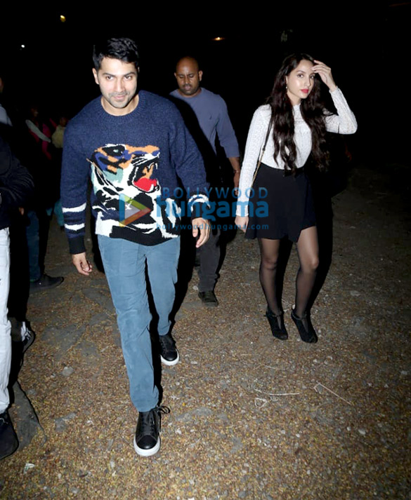 Photos Varun Dhawan and Nora Fatehi snapped at Mount Mary Church in Bandra (6)