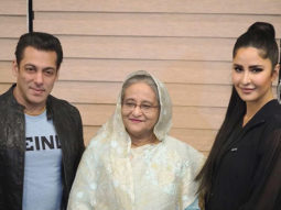 Salman Khan and Katrina Kaif pose for a picture with Bangladesh's PM, Sheikh Hasina