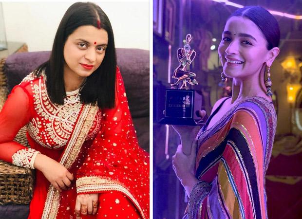 Rangoli Chandel takes a dig at Alia Bhatt post her win at Star Screen Awards