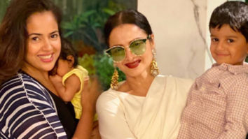 Sameera Reddy is in awe of Rekha as she takes her kids to meet the legendary beauty
