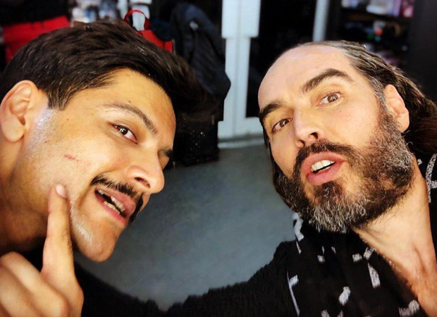 Ali Fazal meets Russell Brand, thanks him for his podcasts and giving him books!