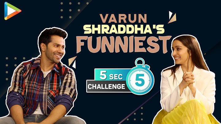 CRAZY Varun & Shraddha's 5 Second Challenge Top 3 Actors Love in 3 Words Street Dancer
