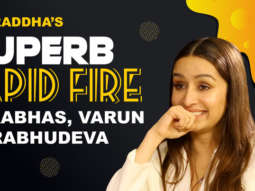 "PRABHAS- Picasso of Winning HEARTS, Varun- King of randomness"" Shraddha K Rapid Fire"