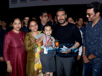 Photos: Ajay Devgn visits INOX Megaplex for an exclusive screening of Tanhaji – The Unsung Warrior for school children