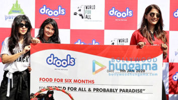 Photos: Pooja Hegde attends the Drools donate food for animals event