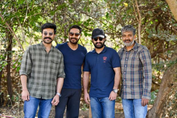 RRR: Ram Charan, Ajay Devgn and Jr. NTRshoot for SS Rajamouli's grand period drama