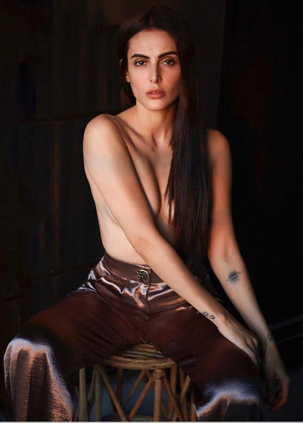 The mercury is rising! Mandana Karimi goes topless in her latest photo