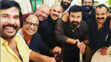 Mammootty clicks a selfie with Malayalam A-list actors Mohanlal, Dileep and others