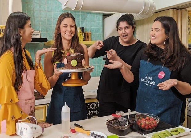 Alia Bhatt is all smiles as she bakes a cake with her fan and Pooja Dhingra for Anshula Kapoor's Fankind
