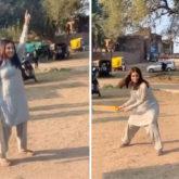 Bhumi Pednekar plays gully cricket with Bhopal residents amid Durgavati shooting, watch video