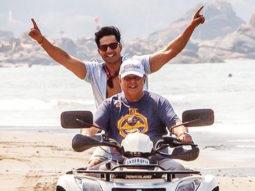 Varun Dhawan and 'daddy cool' David Dhawan ride an ATV in Goa, see photo