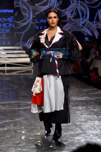 Photos: Neha Dhupia, Saiee Manjrekar turn showstoppers at Lakme Fashion Week Summer/Resort 2020