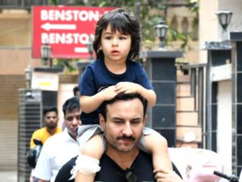 Photos: Saif Ali khan and Taimur Ali Khan spotted in Bandra