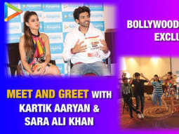 "Sara Ali Khan ""My favourite thing about Kartik Aaryan is that wo…"" Meet & Greet Love Aaj Kal"