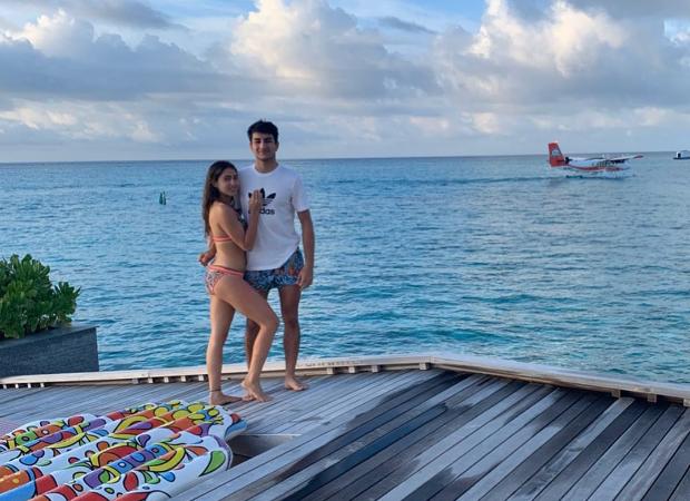Bikini clad Sara Ali Khan poses with brother Ibrahim Ali Khan