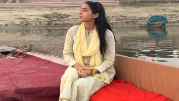 Watch: Sara Ali Khan turns tour guide in Varanasi, attends Ganga arti with mother Amrita Singh