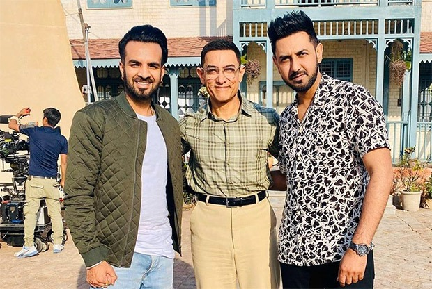 Laal Singh Chaddha: Punjabi actor Gippy Grewal visits Aamir Khan, praises his work