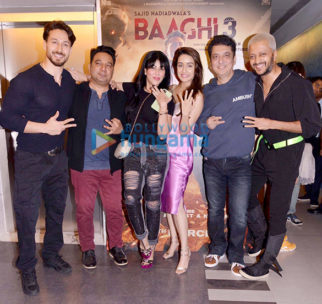 Photos: Tiger Shroff, Shraddha Kapoor, Sajid Nadiadwala and others snapped at Baaghi 3 promotions