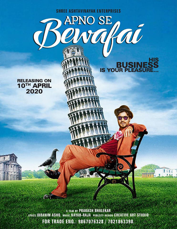 Irrfan Khan's unreleased film Apno Se Bewafai to hit the screens on April 2, director Prakash Bhalekar opens up