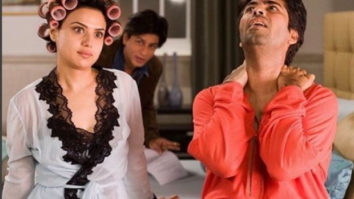 Preity Zinta asks fans to guess what Karan Johar is telling her and Shah Rukh Khan in this throwback picture from Kabhi Alvida Naa Kehna