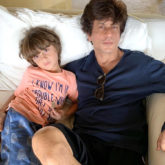 """There's no greater joy than seeing your child grow and being a part of all their innocent antics! Shah Rukh Khan, who is a doting father of three, keeps sharing adorable moments with the children. Since both Aryan Khan and Suhana Khan are studying abroad now, youngest child AbRam rules his dad's Instagram these days! AbRam decided to paint a happy picture of himself and his daddy, and what came out was beyond adorable. The drawing, apart from two smiling creatures, has a handful of heart signs painted, and """"AbRam and papa' written'. He also thinks his papa looks better than him in the drawing! The actor took to Instagram to share it with us. """"Being a father (3x) has been, my greatest source of pride, humility, inspiration & even achievement. It has taught me to choose innocent honesty over smarts....in every aspect of life. My lil one told me I look better than him in his drawing cos I am smiling without a reason....,"""" he wrote. The little one has certainly learned one easy secret to happiness already! Some days back, AbRam also won a medal in Martial Arts, and the proud father shared a photo on Instagram, saying his children had more awards than him! On the workfront, SRK is yet to announce his next film but we hear he might make a comeback with a film by Rajkumar Hirani"""